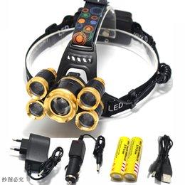 2019 projecteurs utilisés Phare rechargeable zoomable USB 16000lm xm-t6 led lampe frontale lampe frontale lumière de pêche 18650 ligh