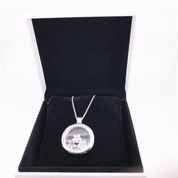 Großes locket silber online-PAN Medaillon Halskette - große authentische 925 Sterling Silber DIY Fine Jewelry Halskette Neclklace 590530
