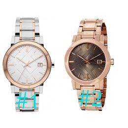 2018 унисекс швейцарские часы из розового золота марки Tone BU9005 BU9006 большой чек Rosetone швейцарские часы из нержавеющей стали браслет 38 мм с коробкой от Поставщики большие розовые часы