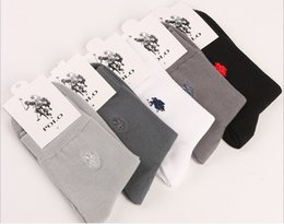Wholesale commercial wholesalers - Pure Cotton Spring Socks Men Authentic Polo Brand Men's Socks Autumn And Winter Commercial Male Socks 10 pcs=5 pairs