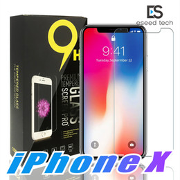 Wholesale package glass - For Iphone X 8 7 Tempered Glass Screen Protector For Iphone X Edition Iphone 6 J3 J7 Prime 2017 Huawei P20 lite pro 2.5D 9H Paper Package