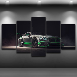 Wholesale Hd Car Pictures - 5 Pcs Set Framed HD Printed Luxury Sports Car Wall Canvas Print Poster Asian Modern Art Oil Paintings Pictures