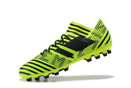 Wholesale Indoor Soccer Shoes Free Shipping - Turf Cleats Soccer Men 2018 Nemeziz 17 Messi Soccer Shoes Indoor Football Boots Free Shipping Cheap New Tango 17.3 AG TF Soccer Cleats Sales
