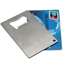 Wholesale bottle opener credit card - 85*54mm Bottle Opener New Wallet Size Stainless Steel Credit Card Business Card Beer Credit Business Card Size Openers CCA10074 120pcs
