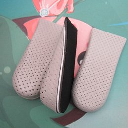 Wholesale Shoe Insole Height Increase - New Arrival 1 Pair Breathable Half Insole Heighten Heel Insert Men and Woman Sports Height Increase Insoles Shoes
