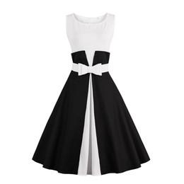 2019 inverno fantasia sereia 2017 new summer dress mangas estilo patchwork 1950 s vintage dress preto branco partido das mulheres feminino rockabilly vestidos