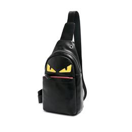 Gelbe rucksacktaschen online-Gelbe Monster Eyes Herren Umhängetasche Rucksack für Jungen Sport Style