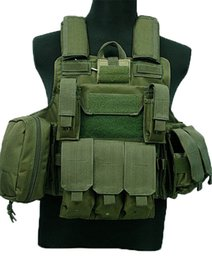 free molle gear Coupons - Tactical Vest Molle CIRAS Vest W Magazine Pouch Releasable Armor Plate Carrier Strike Vests Hunting Clothes Army Gear