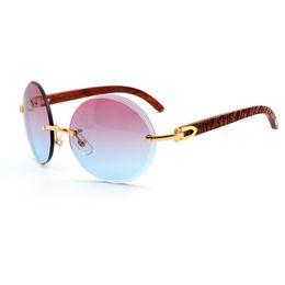 Wholesale Box Color Pattern - fashion brand wooden sunglasses sunglasses for men designer sunglasses red blue gradient lens pattern logo wood legs with box