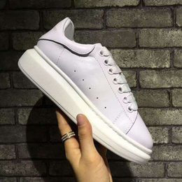 Wholesale Pink Station - Fashion shoes European station new couple shoes leather upper inside sheepskin flat casual shoes factory direct free shipping
