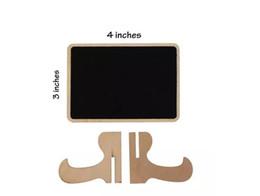Настольные карточки онлайн-деревянные Миниые карточки места Chalkboard держатели карточки имени венчания с стойкой мольберта для венчания, дня рождения, номеров таблицы, знаков еды