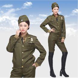uniformes policiales Rebajas Oficiales militares uniformes del estilo americano que sirven a hombres y mujeres en el espectáculo de ropa de oficiales de uniformes de policía de Kuomintang