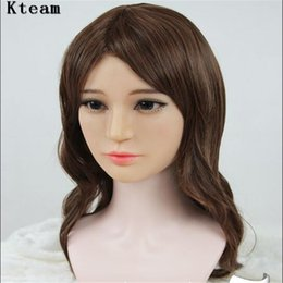 face scar makeup Coupons - silicone mask female Goddess Alice female face mask with light makeup