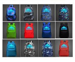 backpack notebooks Canada - Fortnite Battle Royale Backpack Glow in Dark School Shoulder Laptop Bags Luminous Travel Tote Teenager Student Notebook Bags Rucksack