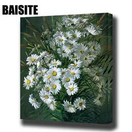 Farbe zahlen blumen online-BAISITE DIY Gerahmte Ölgemälde Durch Zahlen Blumen Bilder Leinwand Malerei Für Wohnzimmer Wand Kunst Wohnkultur E806