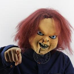 Giocattoli terroristici online-Halloween Terrorist Latex Spaventoso Fantasma Maschera Giocattolo Gioco Trucco Maschera Carnevale Party Show Chucky bambola in lattice maschera