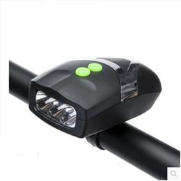 Campana anteriore online-2 In 1 Design Lould Bike Horn con luce bianca anteriore Campanello d'allarme elettrico per la sicurezza notturna in bicicletta Parti di ricambio 6 5hy ZZ