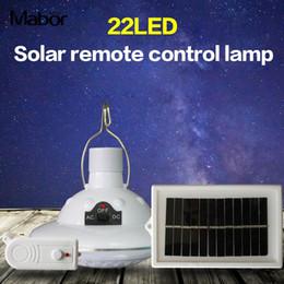 2019 éclairage d'urgence vintage Lumières solaires super lumineuses de camping Lampe de tente Lanterne portative Lumière de secours randonnée 22LED Télécommande multi-fonctions
