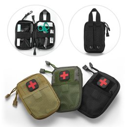Wholesale emergency survival bag - Outdoor Hunting Molle Medical Cover Emergency Survival Package Utility Tactical Portable Medical First Aid Kit Patch Waist Bags DDA559