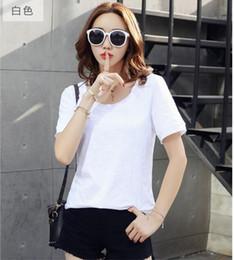 Mädchen Frauen t-shirt Heißer Verkauf Mode Damen Baumwolle T-shirt Plue Größe Kurzarm Loose Fit Femme Stil Modell von Fabrikanten