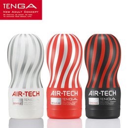 Wholesale Japan Silicone Sex Toys - Japan Original Tenga Air-tech Reusable Vacuum Sex Cup,Soft Silicone Vagina Real Pussy,Pocket Pussy Male Masturbator Cup Sex toys