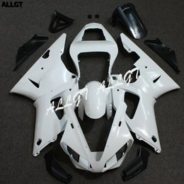 Carenados moldeados por inyección online-ALLGT kits de carenado sin pintar de motocicleta moldeada por inyección para Yamaha YZF R1 2000 - 2001 Piezas de carrocería