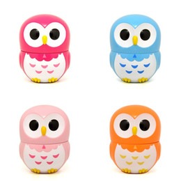 Búhos de plástico online-Lovely Plastic Alarm Clock 60 Minute Mechanical Timers Dibujos animados Owl Forma Kitchen Timer Multi Color 6 66yy C R