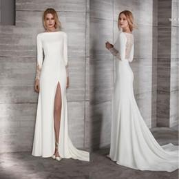 b118c4da98ed 2019 vestiti da cerimonia nuziale eleganti sexy del guaina Sexy economici  2019 guaina abiti da sposa