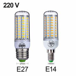 2019 smd führte e27 48 E27 E14 SMD 5730 LED Lampe 7W 12W 15W 18W 220V 110V Mais Licht LED Birnen Kronleuchter 36 48 56 69 72 LEDs rabatt smd führte e27 48