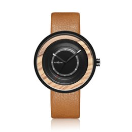 Mens Wood Watch Walnut Rosewood Wristwatch Male Bamboo Quartz Wooden Circle Watches Clock For Men Boyfriend Birthday Best Gifts