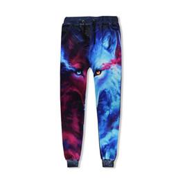 2019 calças de galáxia masculina 6XL Moda Lobo Galáxia Harem Pants Casuais Homens Corredores Calças Harajuku Anime 3D Impressão Sweat Sweat Pantant Pantalon Hip Hop calças de galáxia masculina barato