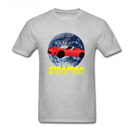 Wholesale astronaut shirt - StarmanX T shirt men Elon Musk SpaceX to Mars starman car T-shirt astronaut heavy falcon rocket tshirt homme Tesla roadster Tees