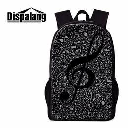 Canada Dispalang Unique Backpack Patterns Notes de musique Art Bookbags Cartable pour les filles Cool sac à dos pour College High Class Back Pack cheap class arts Offre