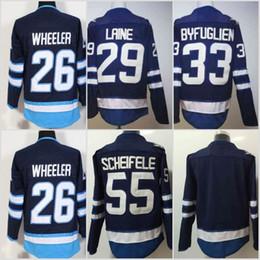 Wholesale Byfuglien Jersey - 29 Patrik Laine 2017-2018 New Season Winnipeg Jersey Mens 26 Blake Wheeler 33 Dustin Byfuglien 55 Mark Scheifele Blue Jerseys