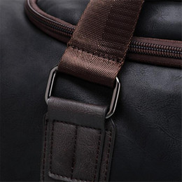 Wholesale travelling leather suitcase - Summer New Men Hand Travel Bags Male Business PU Leather Luggage Bag Luxury Brand Men's Large Duffel Bag Crossbody Pack A500