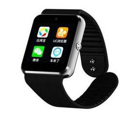 Wholesale Google Phone Calls - QW08 GT08 plus Android mobile phone smart watch MTK6572 Dual-core with SIM card camera GPS Wifi WCDMA 3G google play store support whatsapp