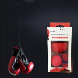 Wholesale Sports Training Equipment - Hot Sale Decompression Boxing Training Reflex Balls Head Wearing Type High Elastic Balls Breathable Sweat Uptake Fitness Equipment Red Hot S
