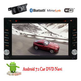 Wholesale Free Decking - Android 7.1 Stereo in dash 6.2'' Double Din in Dash Car Radio Video car DVD Player Hands-free Bluetooth Car deck GPS