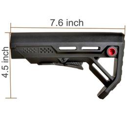 Tactical Stock Impact Resistant Hinterschaft für AR15 / M16 Mil Spec Pufferrohr mit QD Sling Mount von Fabrikanten