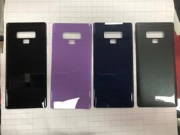 Canada OEM New Grade A +++ Pas de batterie Scratch Porte Arrière Couvercle Remplacement Couverture En Verre Couverture Pour Samsung Galaxy Note 9 N960F N960U cheap any door Offre