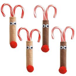 2pcs / set! Carino Natale Deer Posate Borsa Candy Sacchetti regalo Abbigliamento da tavola Tasca forchetta Copri coltello Titolari Home Table Dinner Deco da