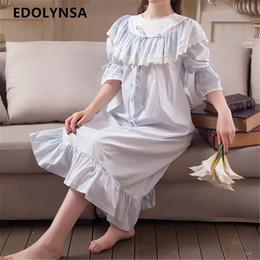 2746db889a New Arrival Vintage Nightgowns Sleepshirts Elegant Lady Dresses Princess  Sleepwear Solid Home Dress Lace Sleep   Lounge  H182