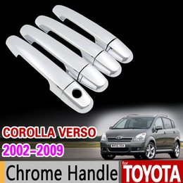 Wholesale Toyota Verso - wholesale for Toyota Corolla Verso 2002 - 2009 Chrome Handle Cover Trim E121 AR10 Sportsvan 2003 2004 2006 2008 Accessories Car Styling