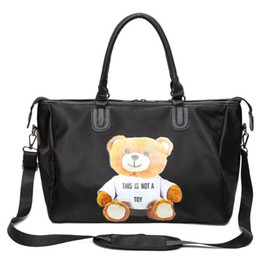 Wholesale Soft Bears - tote bags for women bear decoration black large capacity women tote bag fashion designer travel bags high quality