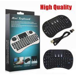 Mini Rii i8 Teclado inalámbrico 2.4G English Air Mouse Teclado Touchpad de control remoto para Smart Android TV Box Notebook Tablet PC desde fabricantes