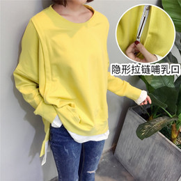 1a562d2c2d5 Oversize Mom Autumn Winter Maternity clothes maternity Breastfeeding Tops  nursing clothes for pregnant women Hoodie