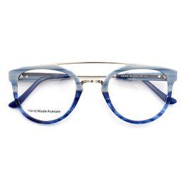 Óculos azul moldura para os homens on-line-KESMALL Moda Óculos de Armação Óptica Óculos Homens Anti Azul Óculos Frames Óculos Vintage Mulheres Miopia Óculos de Armação YJ1161