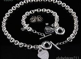 Wholesale Designer Jewelry Earrings - 2018 New Designer Brand New Fashion tiffan925 Silver Jewelry Necklaces and Bracelets Earrings A95