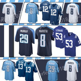 0a8e9439d Indianapolis Colt football jersey 53 Darius Leonard 12 Andrew Luck 13 T.Y.  Hilton Tennessee Titan 8 Marcus Mariota 2 Derrick Henry 29 Murray
