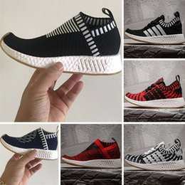 Wholesale Kids Runners - With Box Boost NMD R2 PK City Kids Sock Running Shoes NMD CS2 Naked x Kith Boost Runner Children Training Sneaker